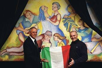 WA Italian Club president Joe Radici and general manager Maurizio Mangiapia [NAMES OK]
