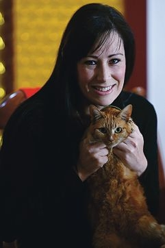 Tammy Rodrigues, pictured with cat Pixy, has set up her own charity. Picture: Marcus Whisson d424556