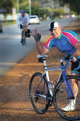 Armadale Cycling Group member Geoff Gilmore Camillo