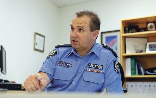 South Metropolitan District Superintendent Brad Sorrell is confident about the strengths of the new policing model about to be adopted in WA. Picture: Martin Kennealey www.communitypix.com.au d424733