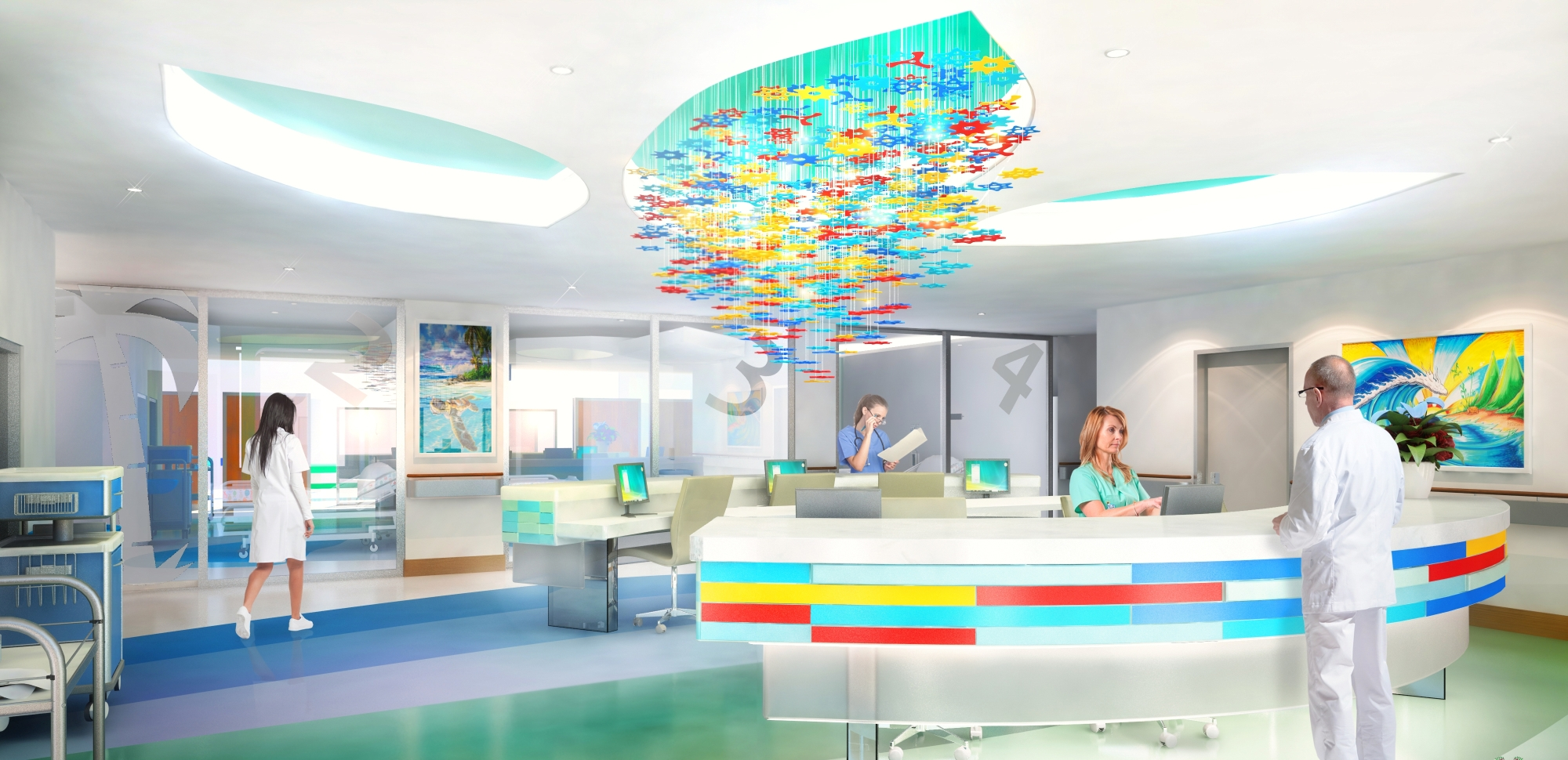 An artist's impression of the new ward. Picture: Silver Thomas Hanley Health Architects