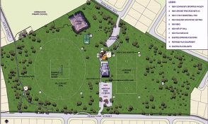 Penistone Park redevelopment concept plan option 3B.