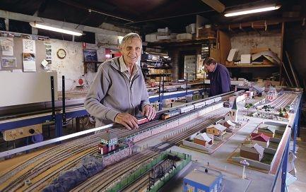 Fremantle and Districts Model Railway Association members Bob Redman and Jeff Ellis. |Picture: Martin Kennealey www.communitypix.com.au d424873