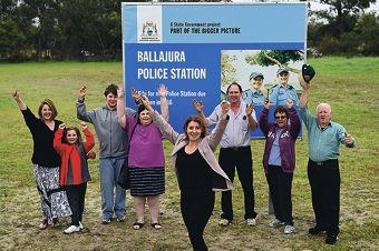 West Swan MLA Rita Saffioti and Ballajura residents at the site where a new police station will be built. Picture: Marcus Whisson www.communitypix.com.au d425036