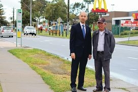Wanneroo councillor Hugh Nguyen with Tang Nguyen.