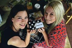 Fashion bloggers Lei Lei Clavey (South Perth) and Pretty Little Package founder Adelle Cousins (Rockingham) at Sherbet Cafe and Bake Shop in Maylands. Picture: Marcus Whisson d424922