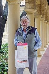 Blood donor Arthur Faulks was recognised |recently for reaching 150 donations.