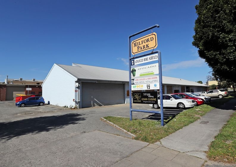 New Rebels Bikie Gang clubhouse at Unit 1b Milford Park Industrial Centre in East Vic Park.
