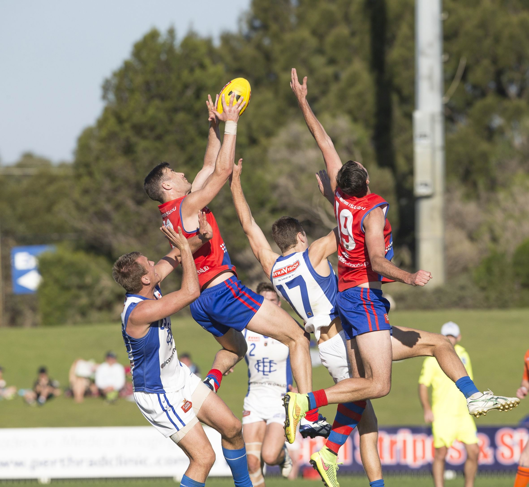 West Perth's Dan Hunt lines up for a strong contested mark. Picture: Dan White