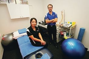 Accent Physiotherapy remedial massage therapist Junko Ohara and physiotherapist Matthew Montgomery. |Picture: Andrew Ritchie d425019