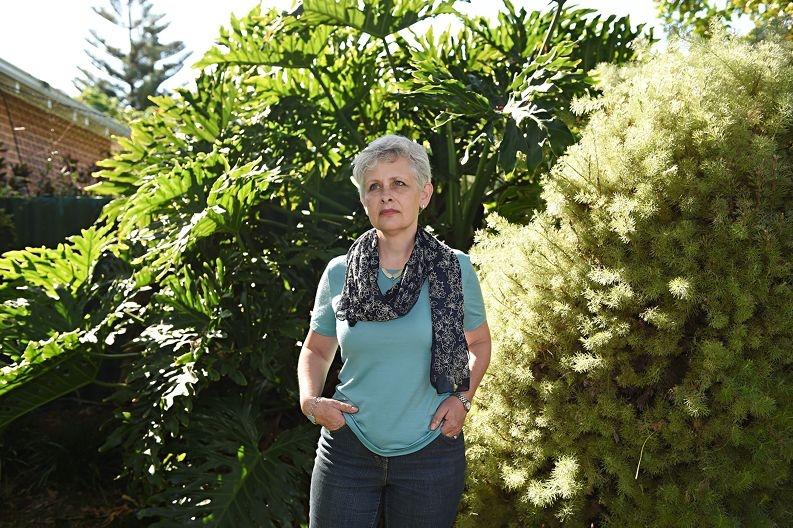 Former Town of Mosman Park councillor Libby Eustance in her back garden