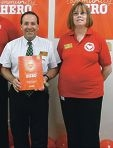 Wanneroo store manager Tony Marsiglia and Mari James.