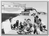 Yanchep Community School pupils have a lesson outside their classroom in 1976. Photo: Picture Joondalup