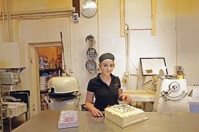Apprentice pastry chef Laura Mackwell at Patisserie La Vespa.