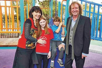 Dr Corinne Reid and Dr Mike Anderson with children Lily and Tommy.