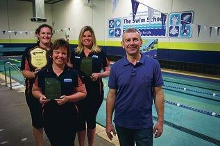 From Left: Mel Warren, Daria Kearon, Lauren Clark, Zoran Naumovski. The Swin School in Merriwa and some of its staff recently won awards