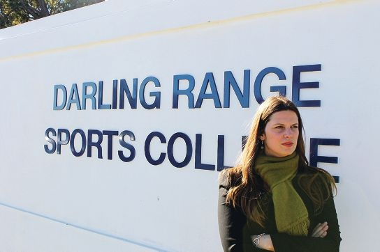 Opposition spokeswoman Kate Ellis outside the Darling Range Sports College in Forrestfield.