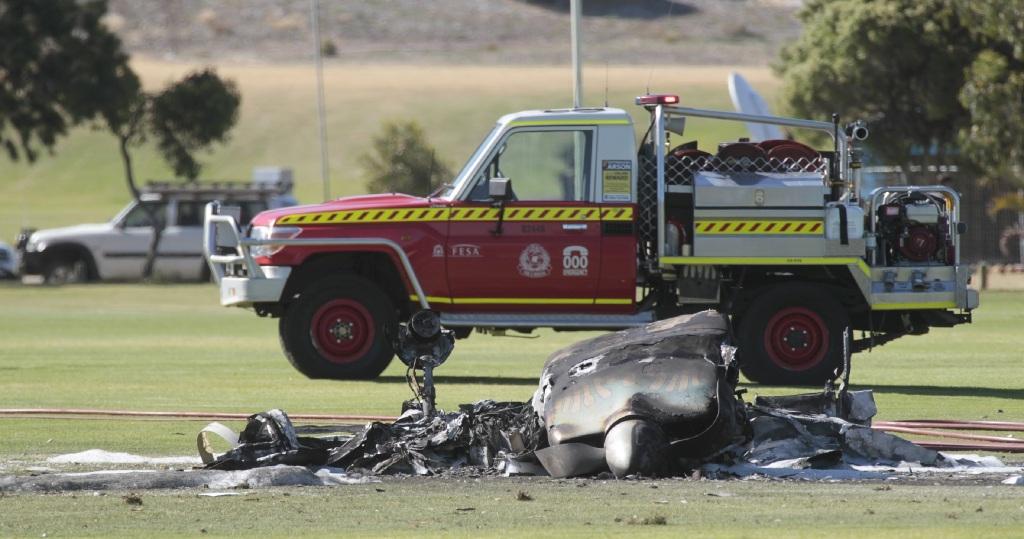 The wreckage of last December's plane crash. www.communitypix.com.au d411866