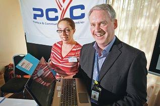 Lisa Ingram and John Gillespie at Fremantle PCYC. Picture: Bruce Hunt d423478