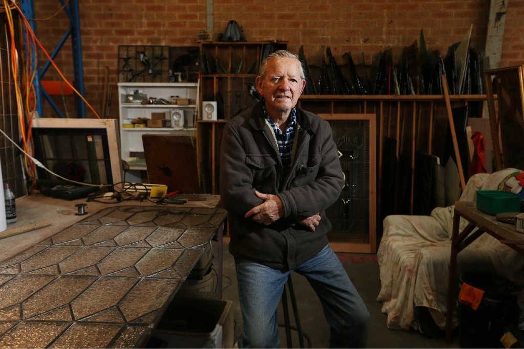 Bob Mainstone was forced to move his business to Osborne Park two years ago after the MRA gave him notice to quit a Beautfort Street site it said had to be renovated, but remains empty . Picture: Andrew Ritchie d423775