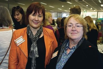 Community Development and Library Services manager Debbie Terelinck and Alison Sutherland of the State Library.d422891