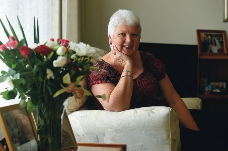 Frequent blood, plasma and platelets donor Marie Stephens. Picture: Marcus Whisson d423380