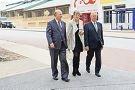 Planning Minister John Day, Cottesloe Mayor Jo Dawkins and Premier Colin Barnett. d423462