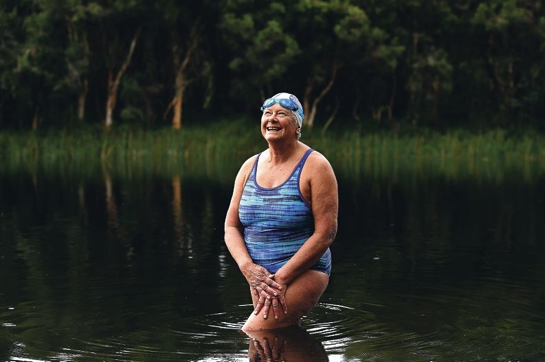 Inspiring swimmer Sue Oldham. Picture: Marcus Whisson d423407