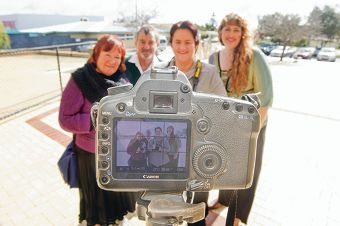 May and David Lanchbury, Michelle Shoosmith and Simone Porter are forming a new photography club. Picture: Emma Goodwin www.communitypix.com.au d423469