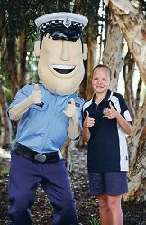 Constable Care with Dixie Bonney (11) of Gosnells.  Ashburton Drive Primary School student Dixie Bonney found a wallet and passed it onto the Police to find the owner.