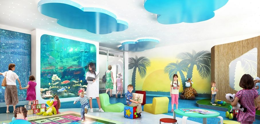 Artists' impressions of the new children's ward at Joondalup Health Campus. Picture: Silver Thomas Hanley