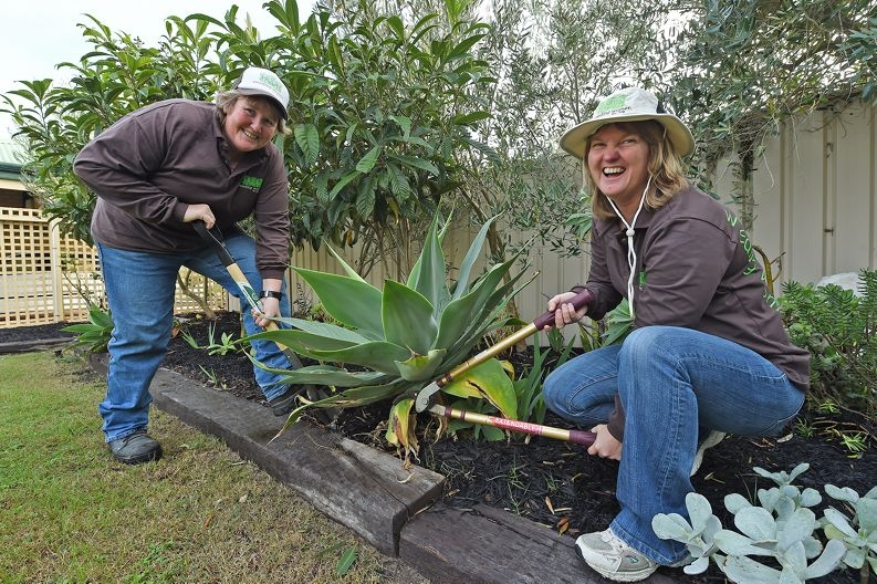 Dee Burghall and Julie Swindlehurst have planted Weeding Women in Mandurah. Picture: Jon Hewson d422564
