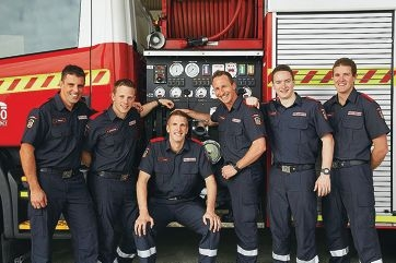 Dale Wright, Scott Brosens, Cam Mair, Luke Harben, Daniel Barnard and Glen Underhay. |Picture: Department of Fire and Emergency Services.