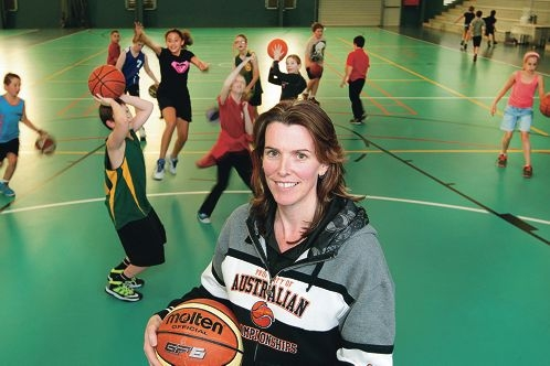 Basketball coach Jodie Withnell at Serpentine Jarrahdale Recreation Centre. Picture: Marcelo Palacios d422228