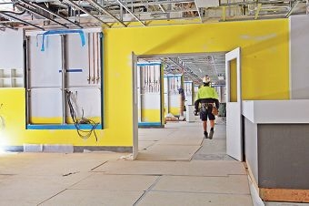 Work continues at St John of God Midland Public and Private Hospital. Picture: Bruce Hunt