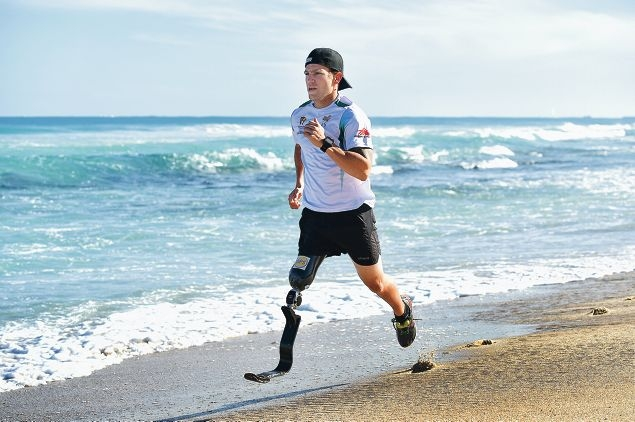 Ironman and aspiring Paralympian Brant Garvey. Picture: Marcus Whisson www.communitypix.com.au d423056