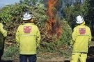 Wanneroo Central Volunteer Bush Fire Brigade volunteers attend to the burn-off at Carramar Golf Course. Pictures: Emma Goodwin