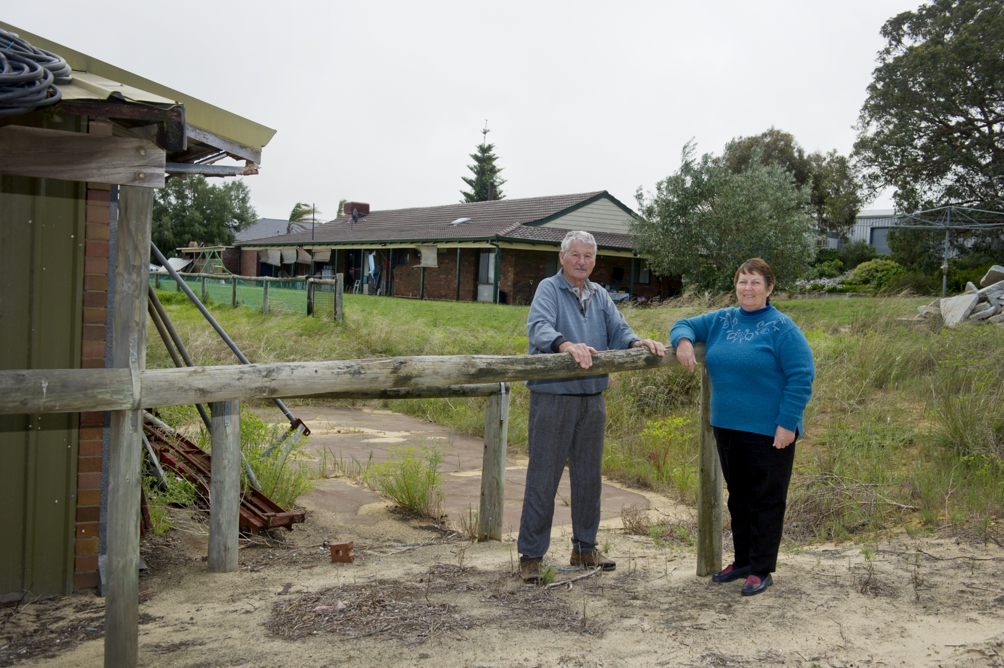 Mick and Judy Garbin have been pleading council since 2005 to allow them to build a new house on their land and bulldoze the old one, both houses are in the Inghams buffer zone.
