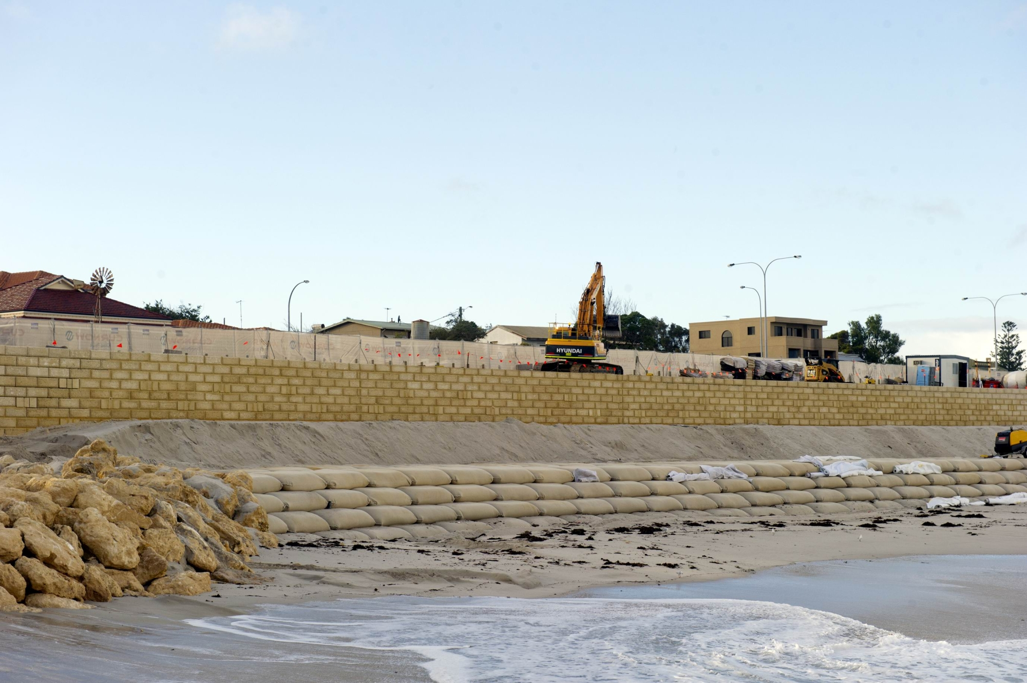 Progress at Quinns Rocks foreshore this week. Picture: Emma Goodwin.