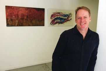 Artist Will Huntley is preparing for his second solo show. Picture: Emma Goodwin