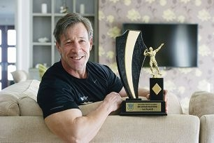 Steve Sharkey recently won a body building competition.