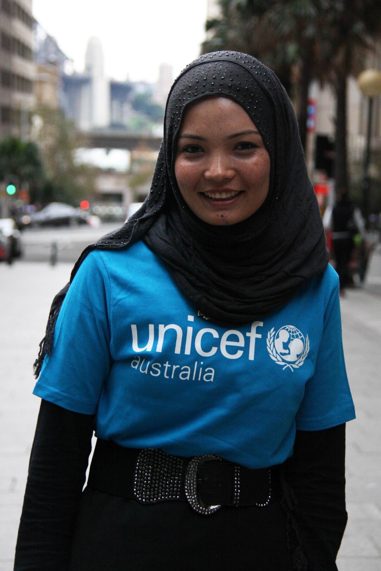 UNICEF Australia Young Ambassador Rahila Haidary.
