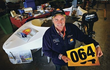 Avon Descent competitor Kim Bolvary is building and preparing his boat for the race. Picture: David Baylis d422747