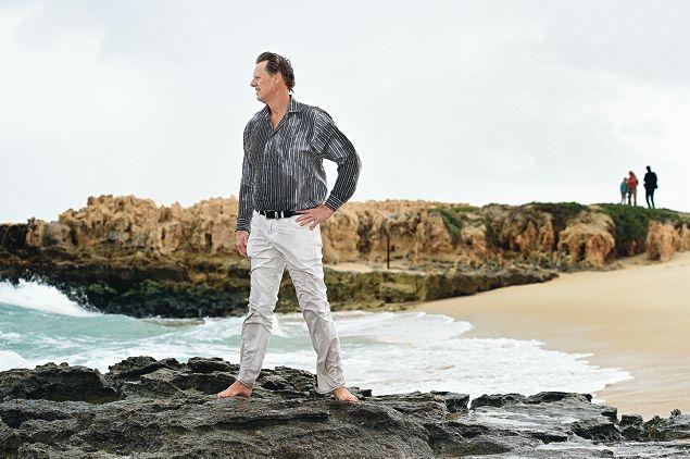 Amateur historian Mike Deephouse at Trigg beach. Picture: Marcus Whisson www.communitypix.com.au d422682