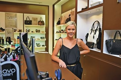 Novo area manager Chelsea Belton chased down a thief after a woman had her bag snatched. www.communitypix.com.au d422800