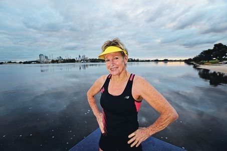 Shirley Bell (66) is in training for the Ironman competition in Hawaii. Picture: David Baylis www.communitypix.com.au d422821