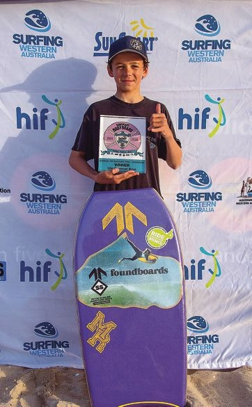 Mandurah's Henry Gibson took out the under-14 grommets state title.