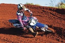 Kyle Webster competing in round four in Geraldton.