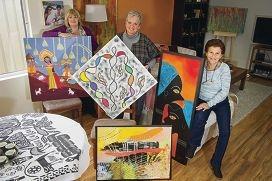 Alessandra Del Basso, Eliane Koenig and Annalisa Tonone Pettitt are part of new art group Emerging Creative Souls. d422042