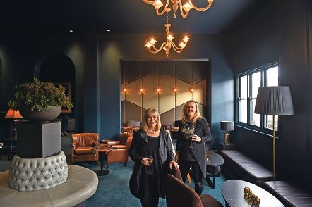 Judy and Bianca Monaghan are excited to reopen the Subiaco Hotel after an 18-month |renovation. Inset: The new atrium bar. Pictures: Marcus Whisson www.communitypix.com.au d422495